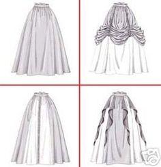 4090 Patron pour jupes médiévales ou renaissance