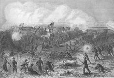 The storming of Fort McAllister by General Hazen's division on December 13, 1864.