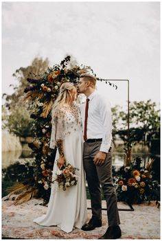 Hayley Country Wedding Flowers, Fall Wedding Bouquets, Autumn Wedding, Wedding Ceremony Arch, Wedding Backdrops, Eclectic Wedding, Bohemian Wedding Inspiration, Wedding Moments, California Wedding