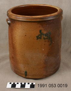 Missouri German stoneware crock made by Joseph Bayer    ca. 1885