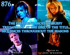 Even though we all know that the last two (Season 6 and 7) aren't actually Buffy, but the Buffybot and The First respectively.