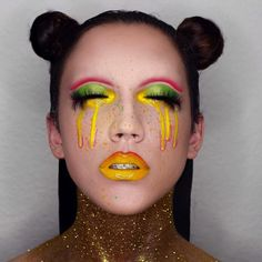 RADIOACTIVE I'm waking up I feel it in my bones. Enough to make my systems blow. Day 16 of #100daysofmakeup my entry for the #meltradioactive #meltcosmetics contest #katvondbeauty mi vida loca & electric warrior #occmakeup lip gloss #nubounsom dragon li lashes WISH ME LUCK haha by openmindfreesoul You can follow me at @JayneKitsch