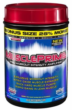 Click Image Above To Buy: Allmax Nutrition Muscle Prime - 1000 Grams - Blue Razzzberry Fury
