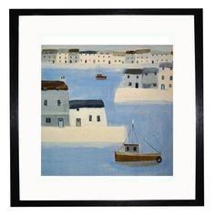 Coastal Seascapes - Harbour Walls, Print, 35x35cm