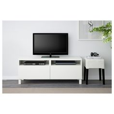 IKEA - BESTÅ TV unit with drawers Lappviken white