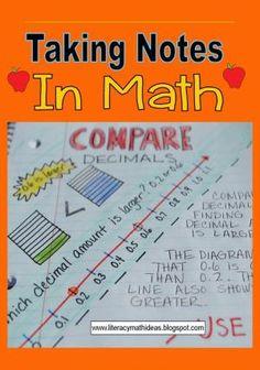 Literacy & Math Ideas: Comparing Decimals by Pat KRemer