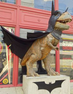 TyrannoBat in Pittsburgh, where The Dark Knight Rises is currently filming.(The film is being shot under the code name 'Magnus Rex.')