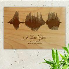Friday news! Sound wave art on wood!