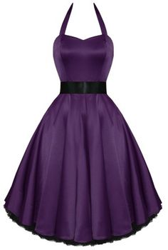 Kelly Dress in Purple Satin - Clothing