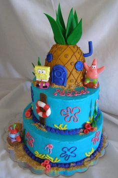 Spongebob Cake Plain And Simple Maybe Spongebob