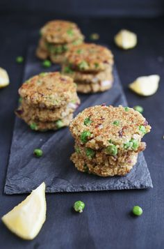 Peas & Pesto quinoa patties