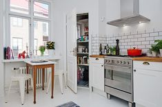 cocina retro - Propósitos de año nuevo para mejorar tu casa