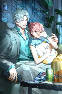 Anime Couple Kiss, Manga Couple, Anime Couples Manga, Manga Anime, Romantic Anime Couples, Cute Anime Couples, Manhwa, Love Fight, Anime Friendship