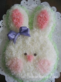 Easter Bunny Cake....my Nanny Anna made an Easter cake for all of her grandchildren every year <3