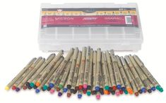oh what i could do with THESE!!  Sakura Micron Pen set at Dick Blick Art Supplies $102