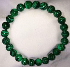 Malachit Heilstein Perlen Armband