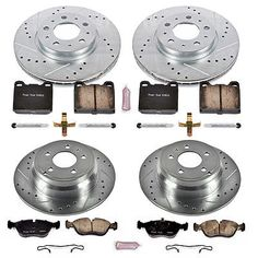 Disc Brake Pad and Rotor Kit Front Rear POWER STOP K2728 fits 98-04 Volvo C70
