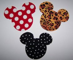 Fabric Applique TEMPLATE ONLY Mickey Minnie Mouse Heads