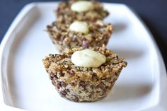 Muffin Tin Mania: Quinoa Lentil Cakes with Curry Yogurt