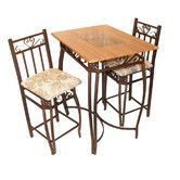 Hazelwood Home Barcelona 3 Piece Counter Height Pub Table Set 151 Kitchen Dining Sets, Dining Room Sets, Dining Room Table, A Table, Kitchen Tables, Kitchen Ideas, Kitchen Seating, Kitchen Designs, Wood Table