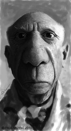 Caricatura de Pablo Picasso.