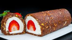 Roulade Recipe, Dessert For Dinner, Ice Cream Recipes, Meatloaf, No Bake Cake, Biscotti, Cocoa, Cheesecake, Deserts