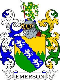 Emerson Family Crest and Coat of Arms