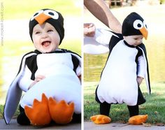 tutorial on how to make cute penguin costume.