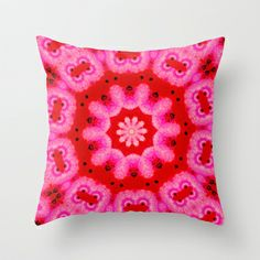 The Pink Swirl  Throw Pillow by Katherine Barnett - $20.00 #pink #pillow #abstract #art