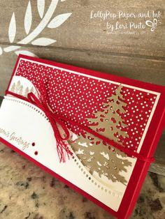 Christmas Gift Box, Homemade Christmas Cards, Stampin Up Christmas, Christmas Cards To Make, Xmas Cards, Handmade Christmas, Holiday Cards, Christmas Crafts, Christmas Nails
