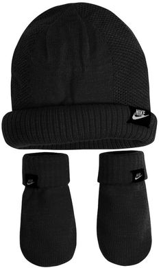 a31168b862e4a Details about Nike Boy s Gray or Girl s Pink Knit Beanie and Mittens Set  2 4T 2A2706 7A2706