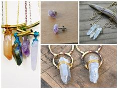 DIY Jewelry Making Trends - Raw Crystal Necklaces