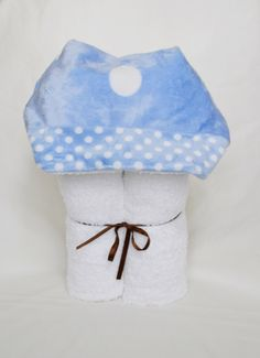 A personal favorite from my Etsy shop https://www.etsy.com/listing/199785223/baby-blue-minky-hooded-towel