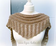 This lovely little Gallatin knitted scarf is perfect for accessorizing a simple t-shirt or blouse. This is a great knitting project for traveling.