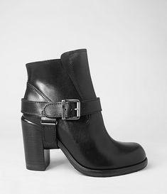 Damen Jules Heeled Boot (Black) | ALLSAINTS.com #allsaints #black #booties #heavyboots #heavy #clean #cool