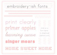 Fab Fonts: Embroidery Effects • Pugly Pixel