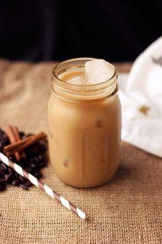 Iced Dirty Chai Almond Milk Latte #glutenfree #vegan #chai
