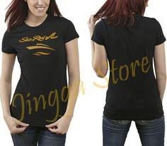 Sea+Ray+Boat+Gold+Logo+Women's+Black+T+Shirt