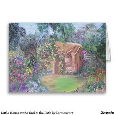 Little House at the End of the Path Greeting Card