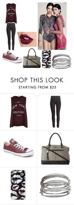 """""""Başlıksız #1275"""" by melis-akcay ❤ liked on Polyvore featuring River Island, H&M, Converse, Calvin Klein, Markus Lupfer, kendalljenner and KylieJenner"""