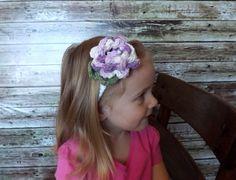 Lilac Purple Flower Child Headband by AbigailsAttic112