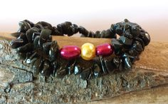 $19.50 ~ Karma Bracelet ~ Double Strand Dragon Glass Stretch Bracelet ~ 30th Anniversary, Birthday, Graduation Gift For Yogini, New Age Shaman ~ Use discount code PIN10 for 10% off in my Etsy shop