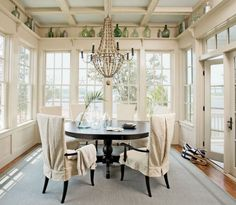 Dining Room in Captain's Watch Home in River Dunes