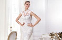 vestido de noiva com estampa de renda de flores