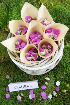 Cornets de confettis DIY Atelier Fleur de Mai