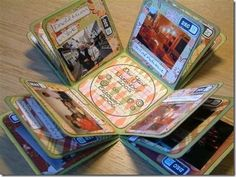 """""""An Exploding Year"""" a photo album in the form of a box... Looks really cool. :)"""