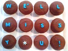 blue cupcake: Going Away Cupcakes