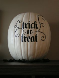 OH! We could use pumpkins and paint them.. that would be awesome since its October and he proposed with pumpkins!!