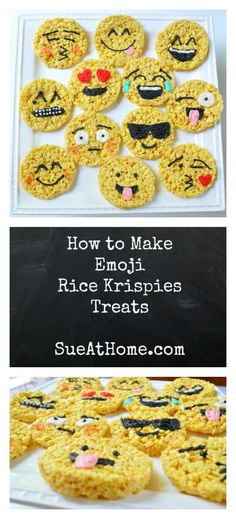Sue at Home Emoji Rice Krispies Treats Pin