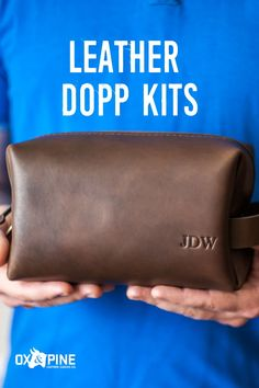 These dopp kits fit everything you could possibly need, and are perfect for travel, home life, or really anywhere. They make the greatest gift and are customizable with four sizes, five colors, and personalization options. Dopp Kit, Leather Gifts, Leather Journal, Ox, Her Style, Travel Inspiration, Pine, Great Gifts, Colors